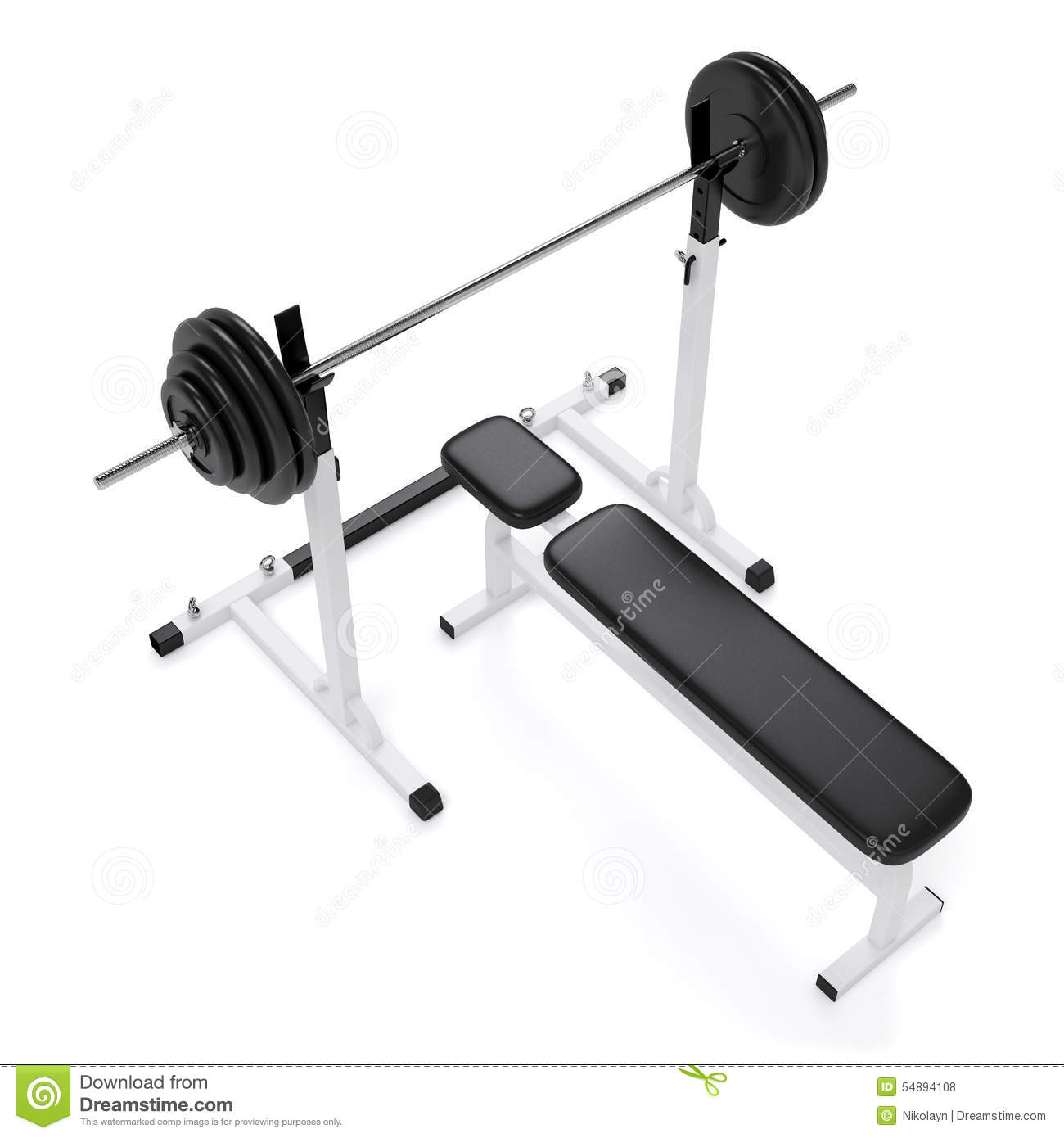 Weight Bench Press Stock Photo Image Of Physical Iron