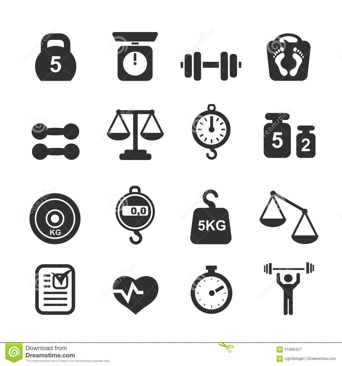 weight icon set scales stock vector illustration of bowl clip art free bow clipart free