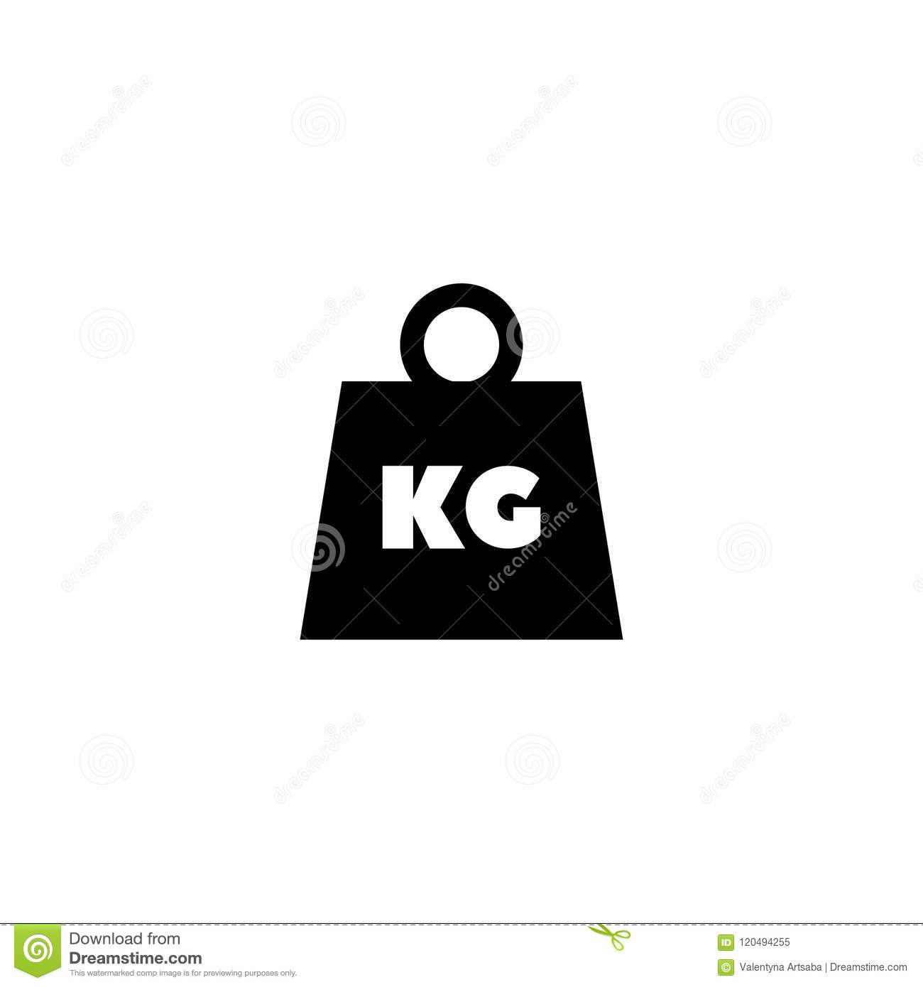 Weight Kilogram Flat Vector Icon Stock Vector Illustration Of Load