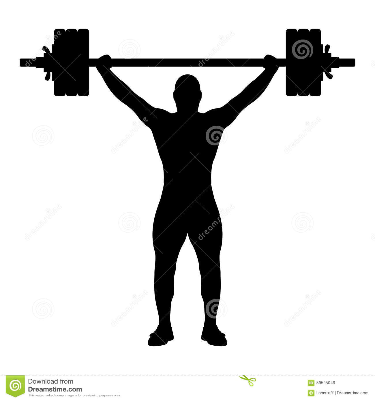 weight lifter silhouette stock vector image 59595049 Gym Clip Art Boy Girl Working Out Clip Art