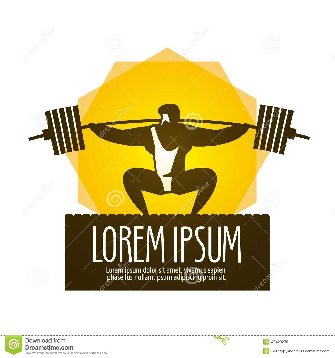 Weight lifter vector logo design template. gym or. Download preview d48a0df78cb58