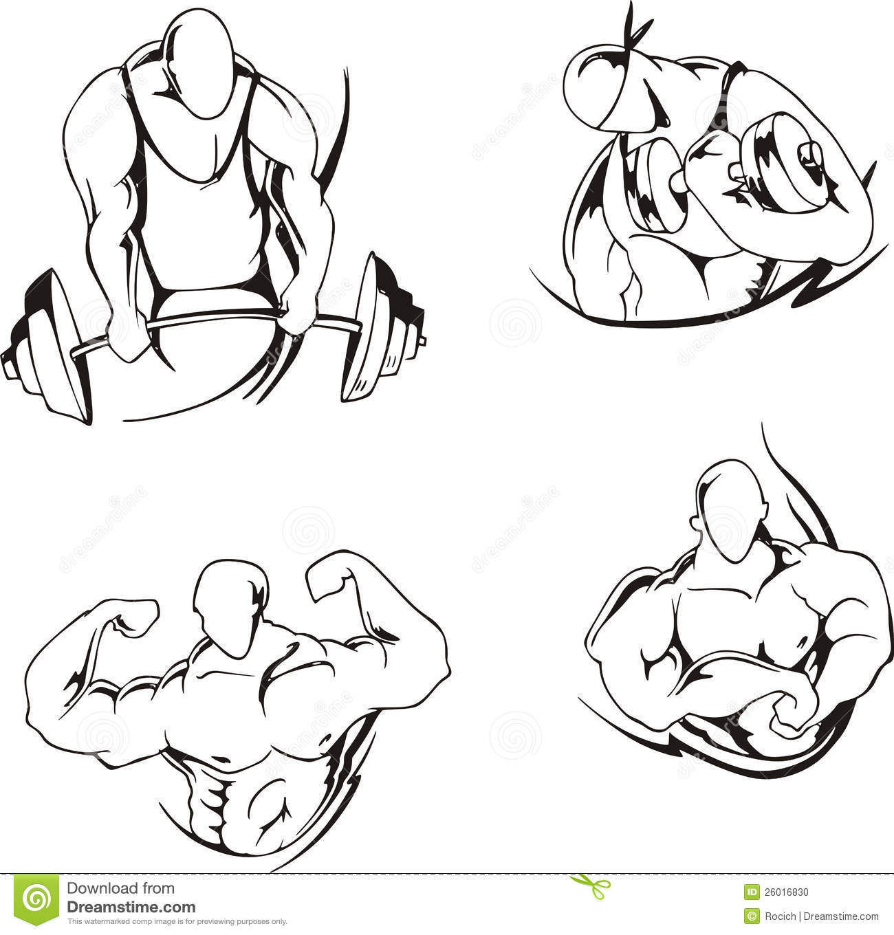Weight lifting and bodybuilding stock photo image 26016830 for Weightlifting tattoo designs