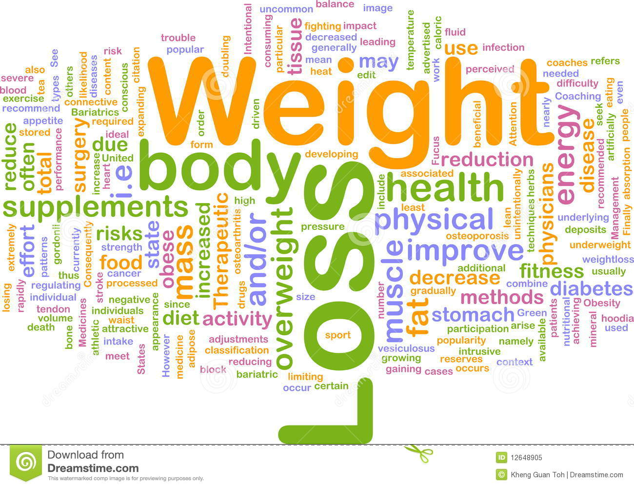 Weight Loss Background Concept Stock Illustration - Image ...