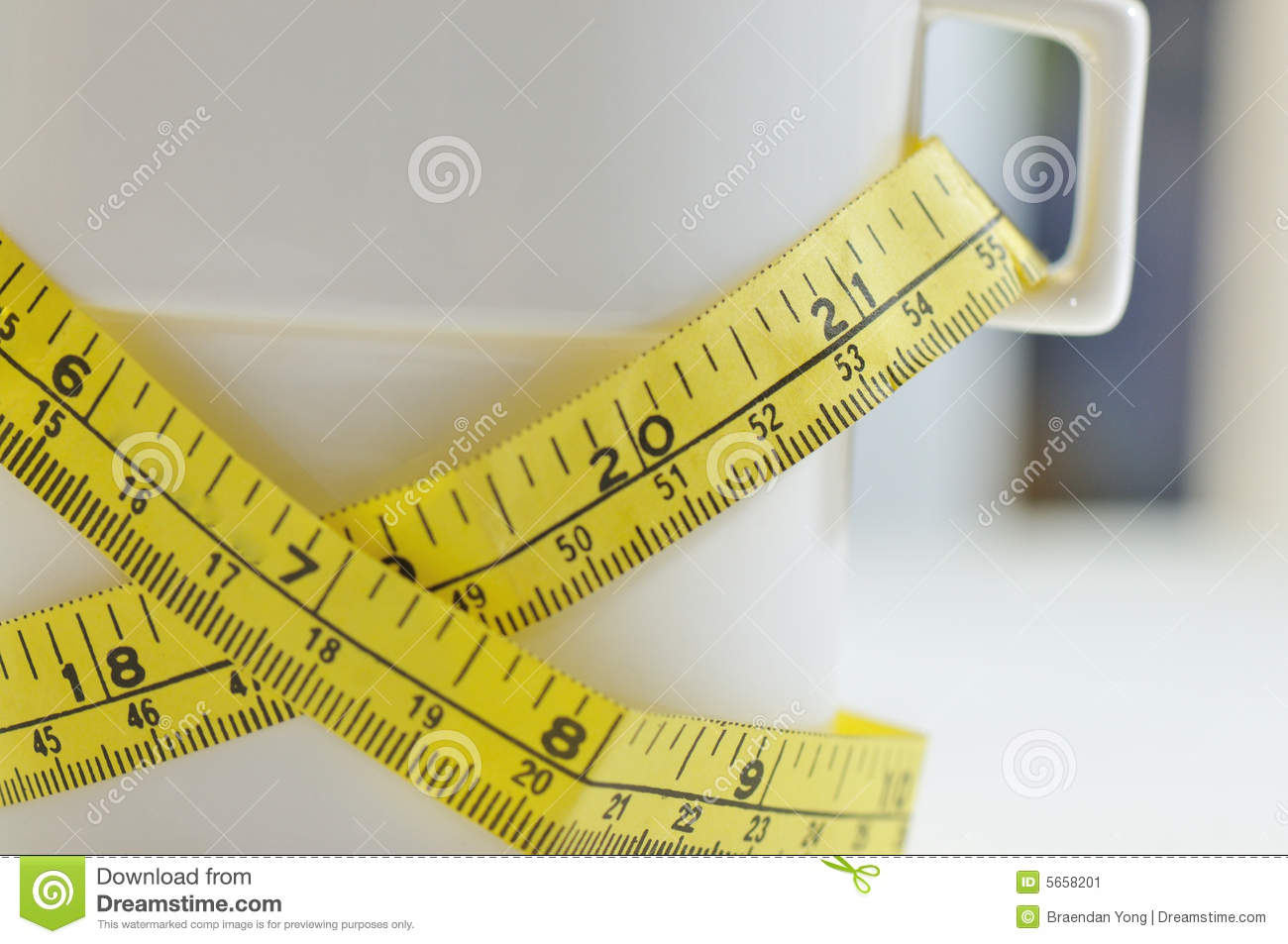 Weight Loss in a Cup I stock image. Image of loss, measure