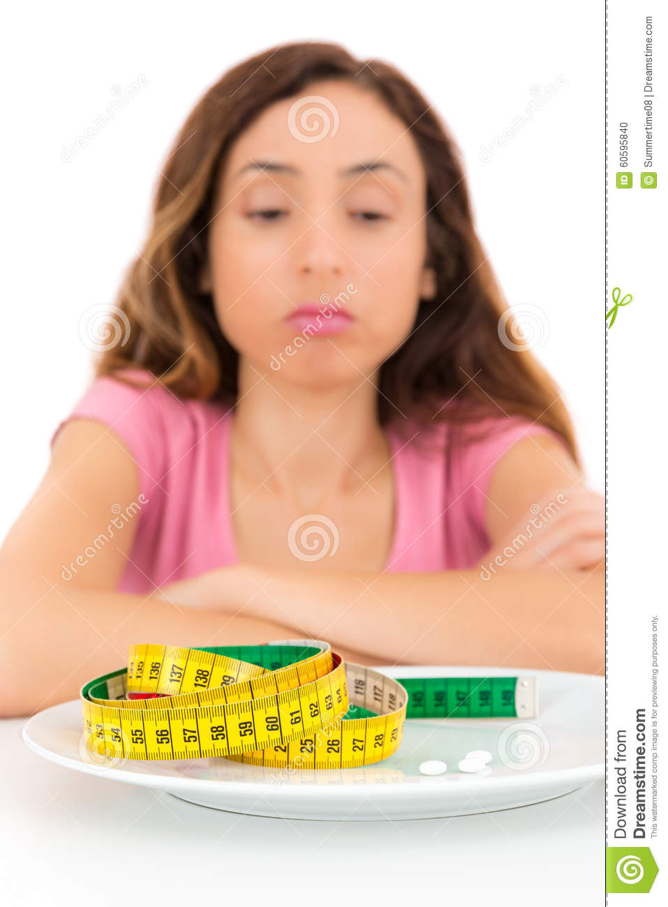 Weight loss woman unhappy