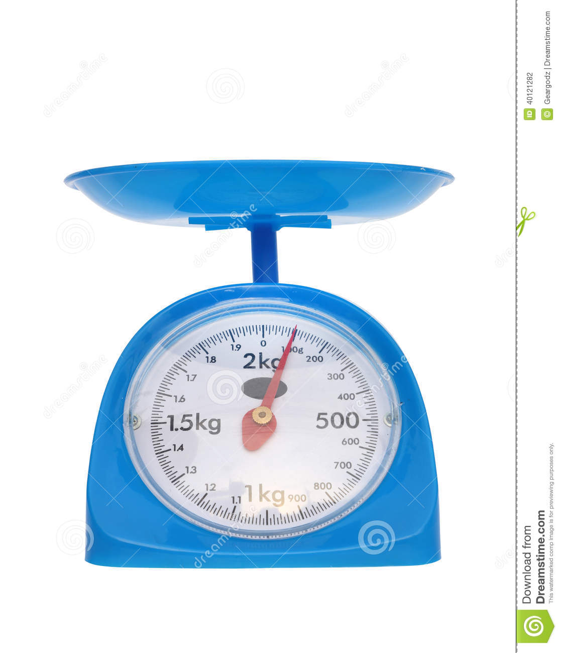 Weight measurement balance isolated on white background (100 gram).