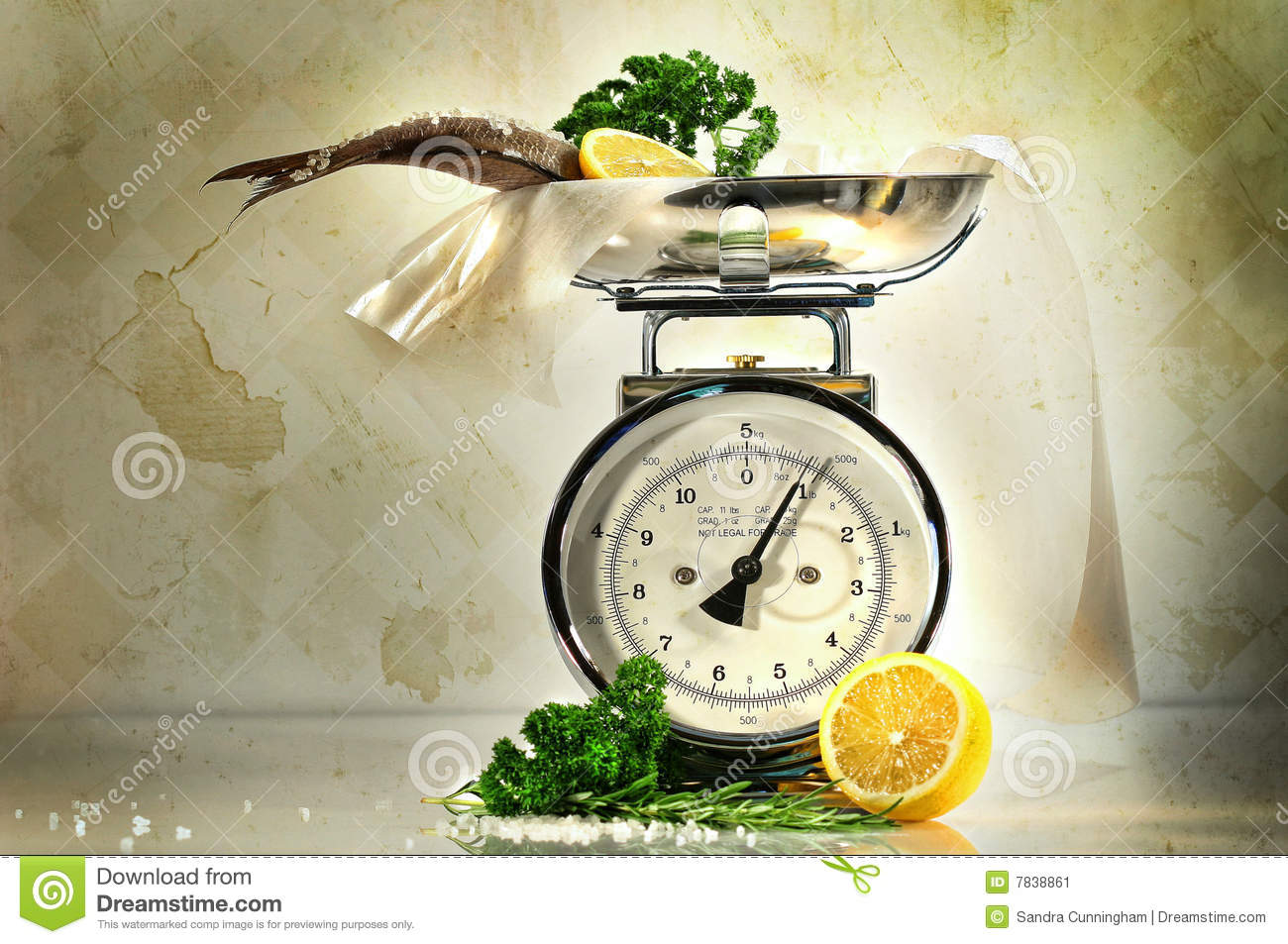 Weight scale with fish and lemons stock image image 7838861 for Fish weight scale