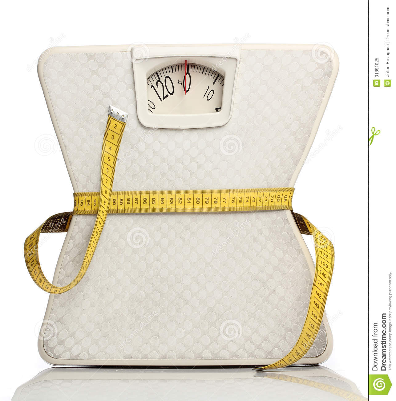 Weight Scale With A Measuring Tape Royalty Free Stock ...