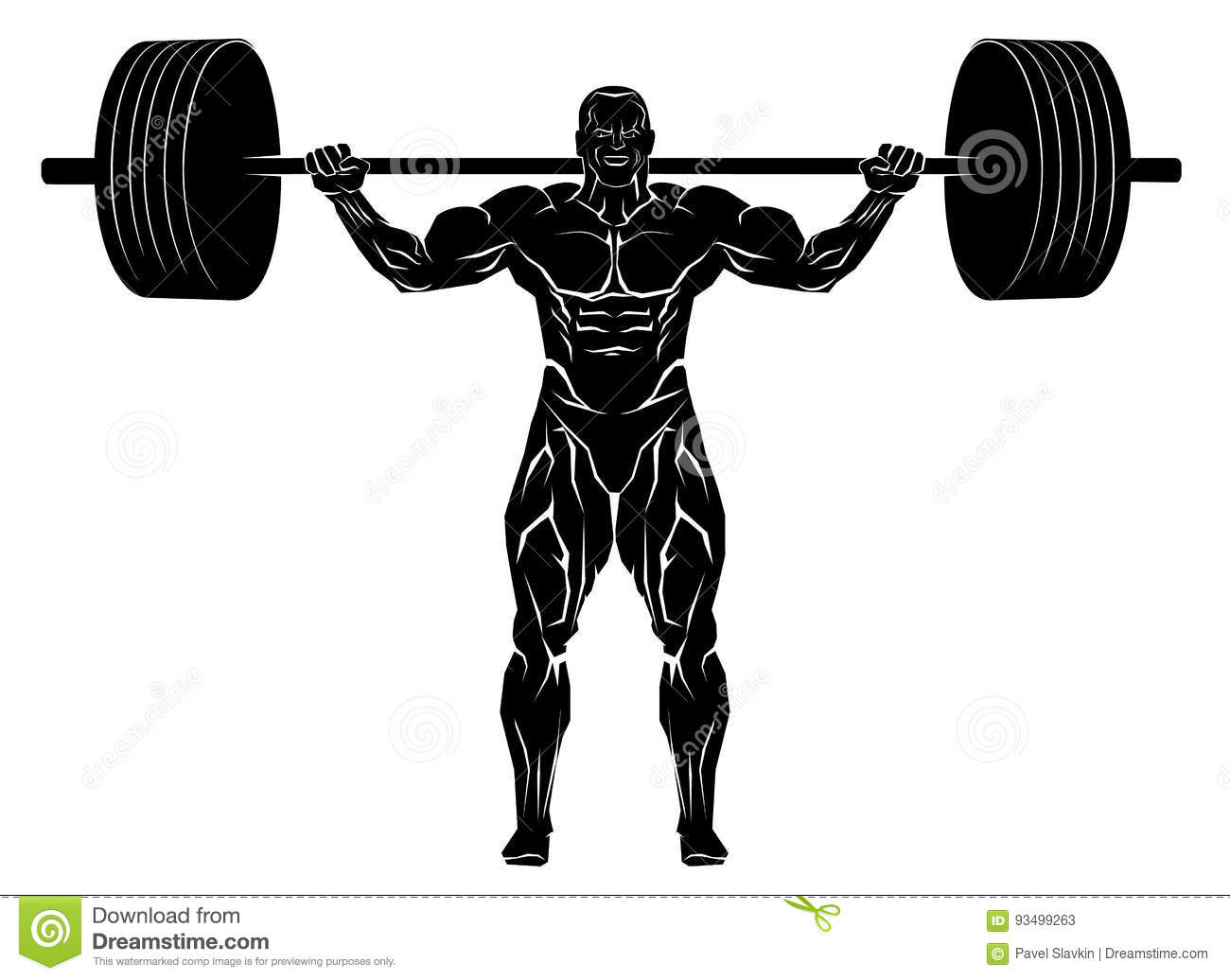 Weightlifter Cartoons, Illustrations & Vector Stock Images