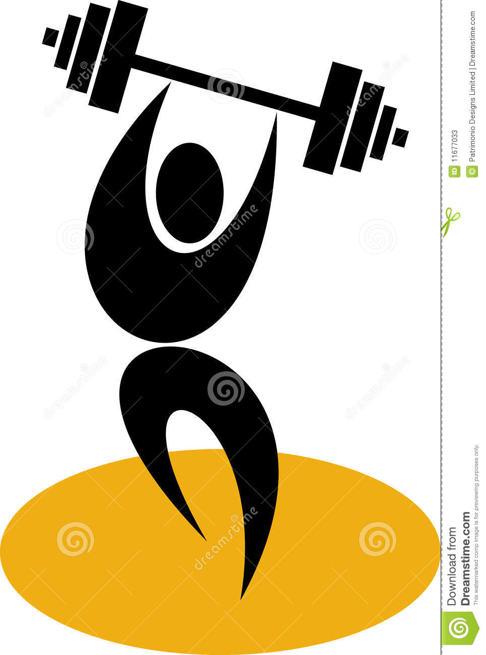 Weightlifter Lifting Weights Stock Photos - Image: 11677033