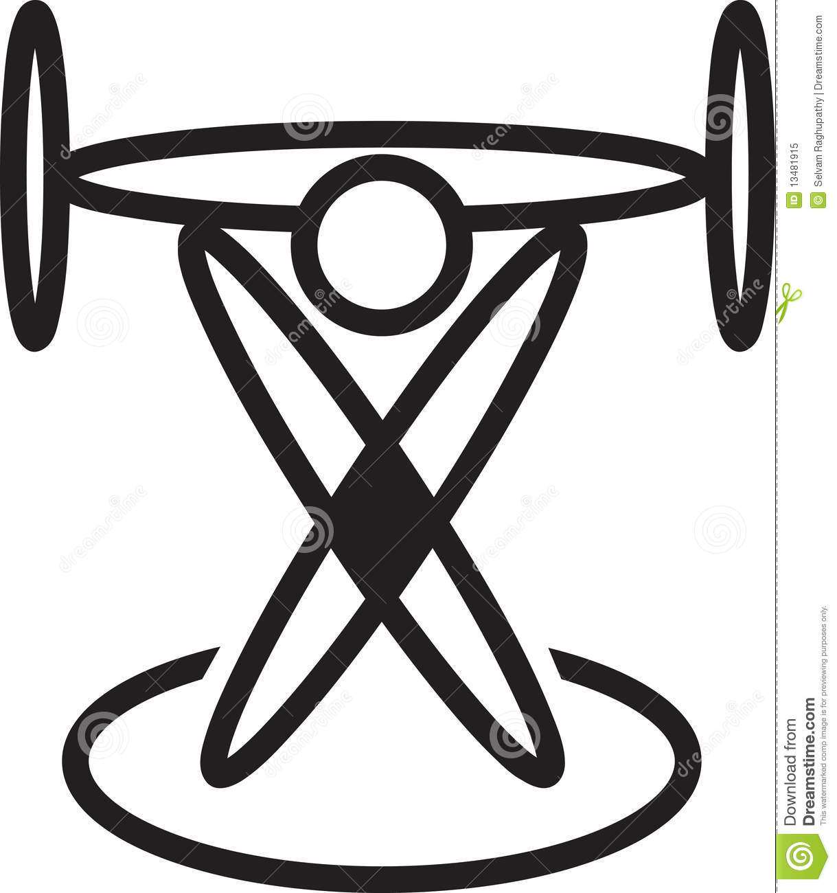 Weightlifting Logo Royalty Free Stock Photo - Image: 13481915
