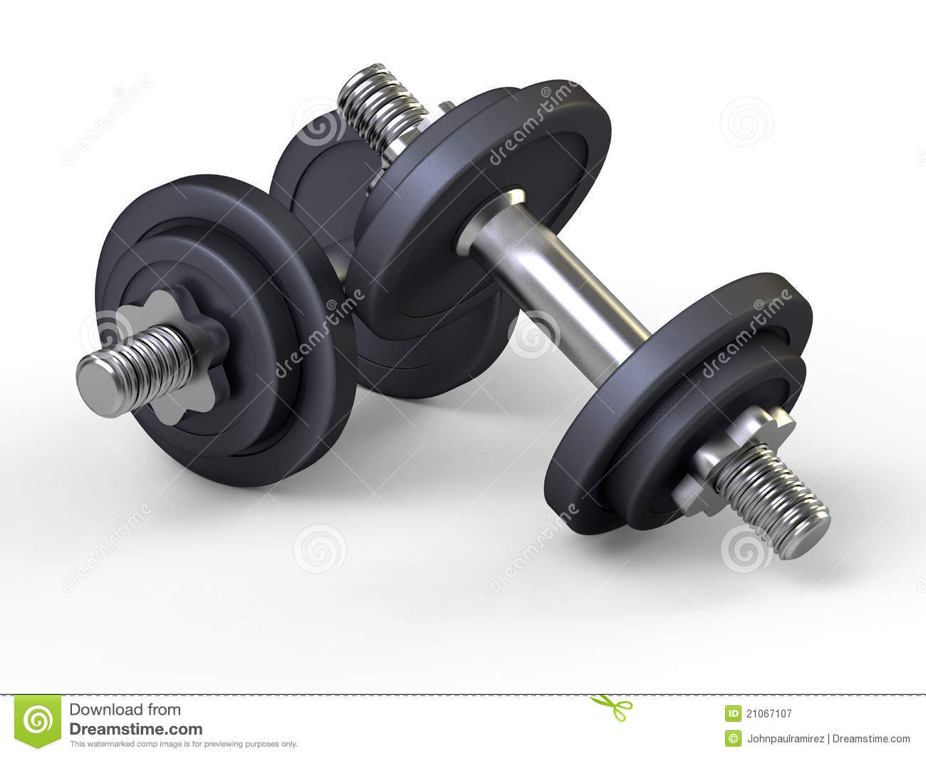 Weights dumbbells gym stock illustration
