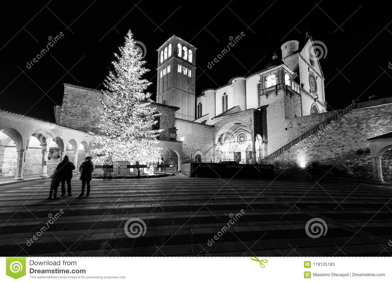 Weihnachten 2017 In Assisi Umbrien, Mit Blick Auf San Francesco ...