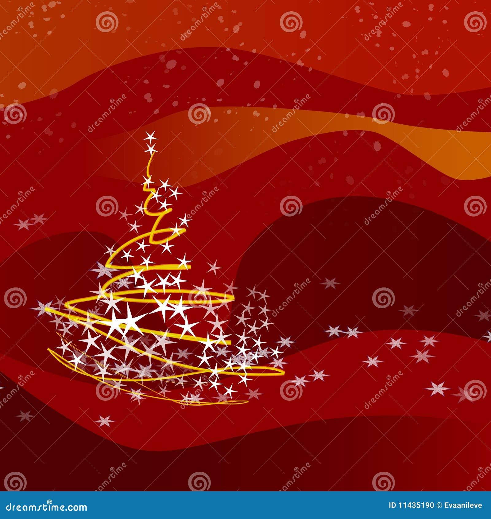 weihnachten baum rot stock abbildung bild von jahreszeit. Black Bedroom Furniture Sets. Home Design Ideas