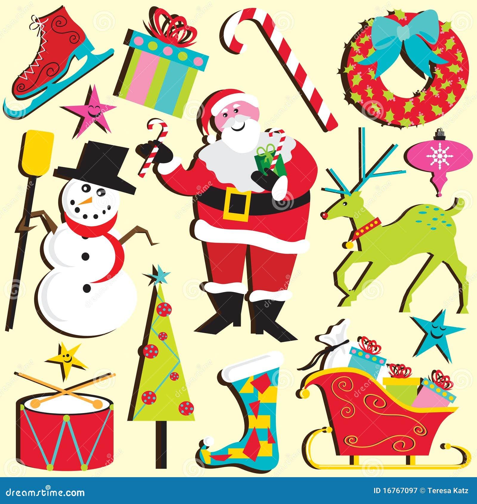 Weihnachten Clipart vektor abbildung. Illustration von rotwild ...