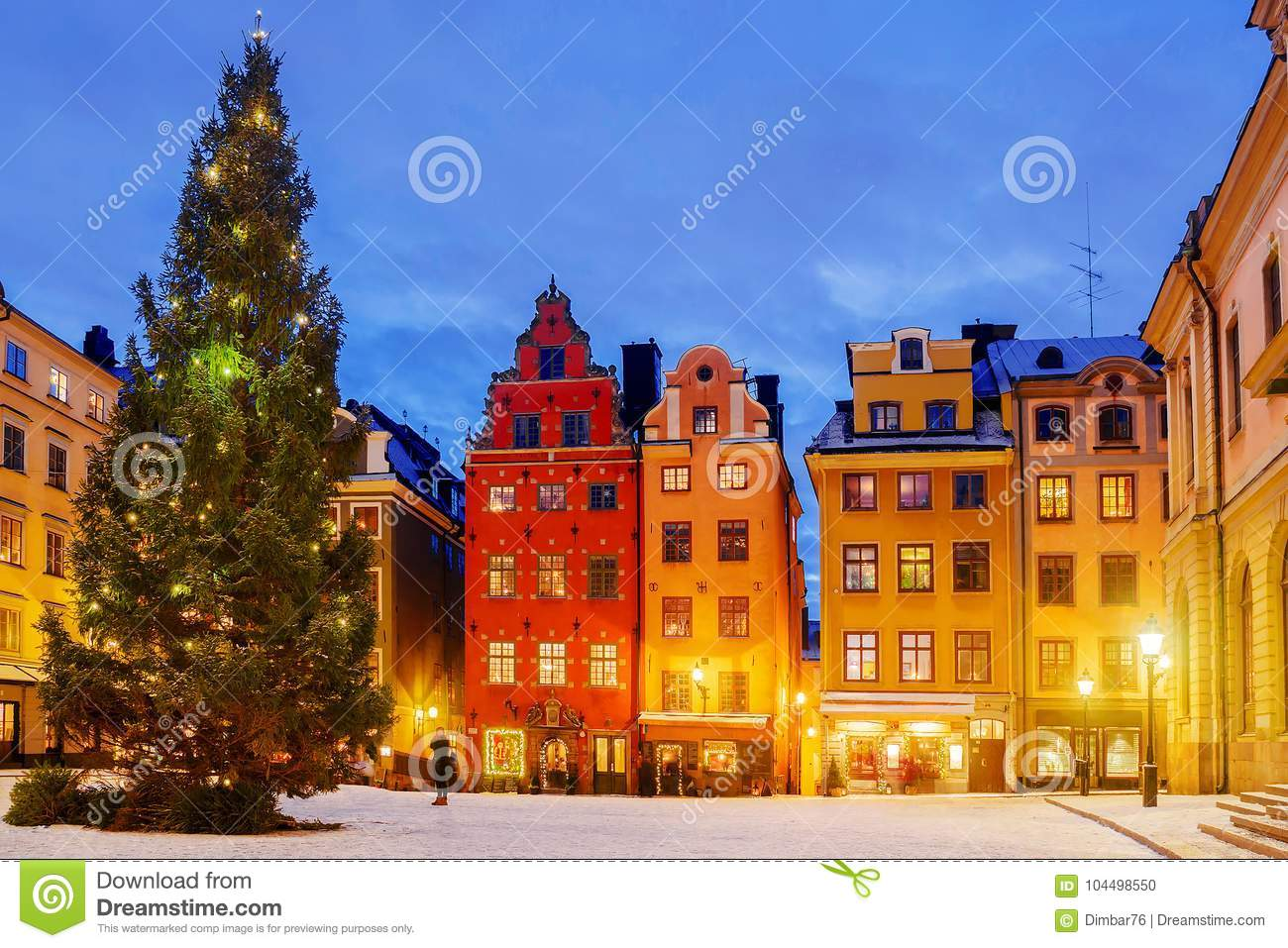 weihnachten in der nacht stockholm schweden stockfoto. Black Bedroom Furniture Sets. Home Design Ideas