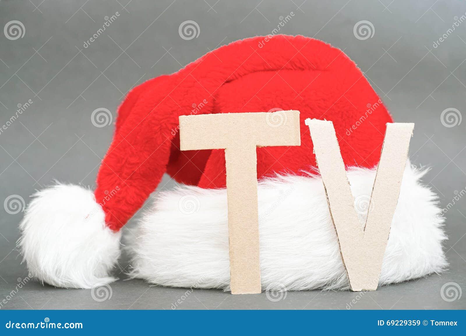 weihnachten fernsehen stockbild bild von exemplar. Black Bedroom Furniture Sets. Home Design Ideas