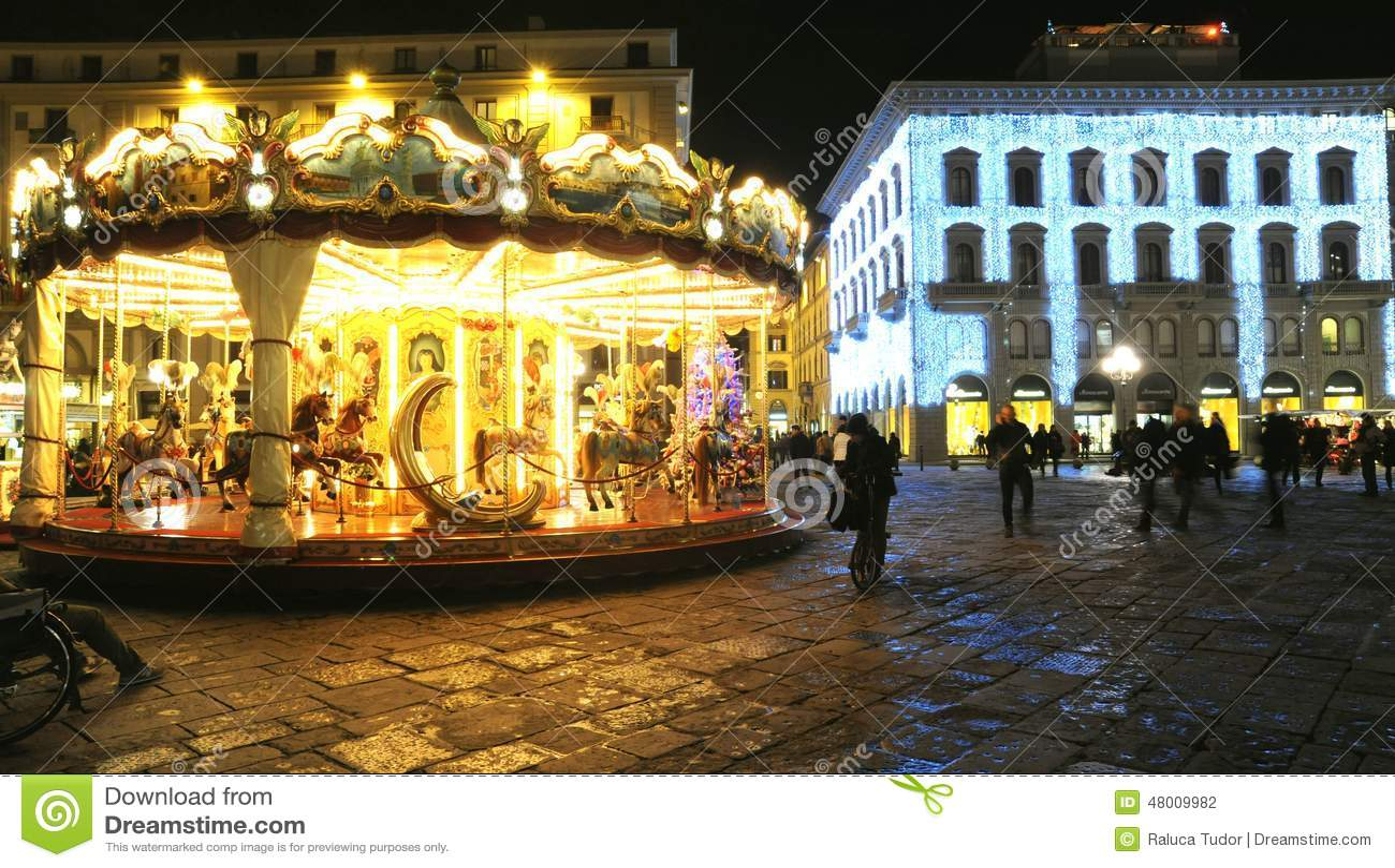 Weihnachten In Florenz 2014, Italien Redaktionelles Stockfotografie ...