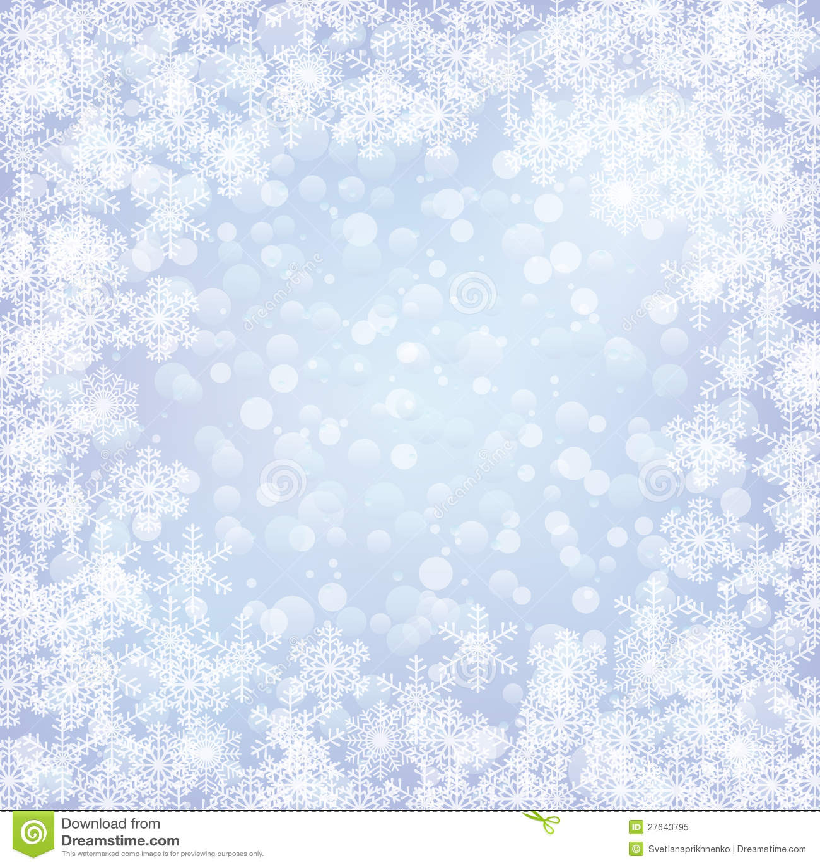 Weihnachten Gefrorener Hintergrund Mit Schneeflocken Vektor ...