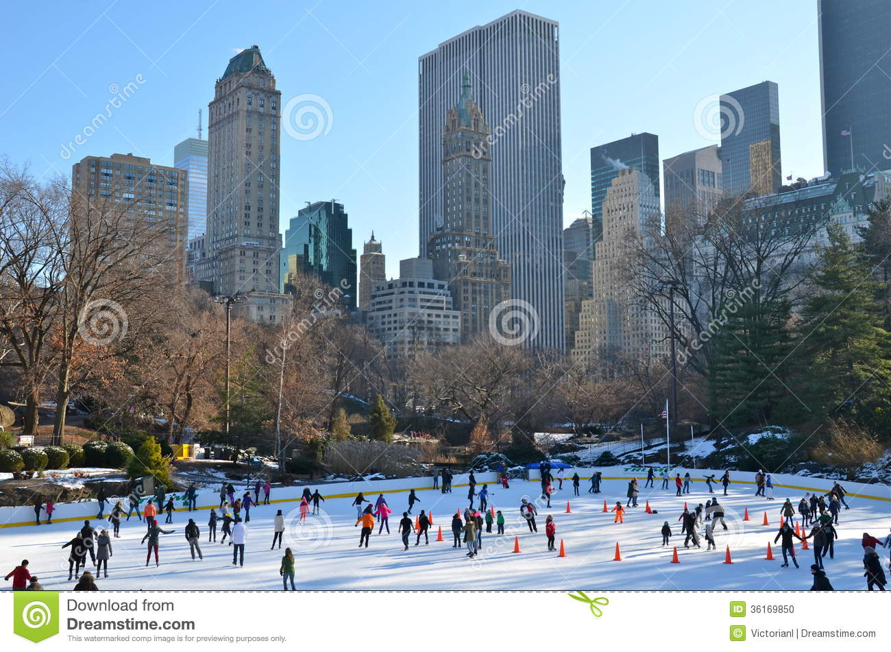 weihnachten im central park new york stockfoto bild. Black Bedroom Furniture Sets. Home Design Ideas