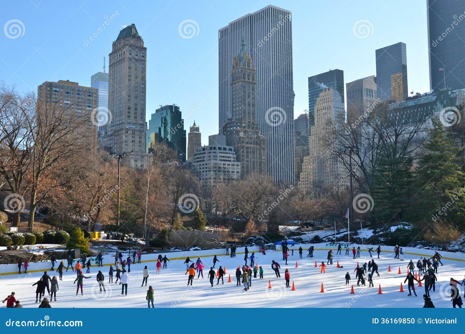 weihnachten im central park new york stockfoto bild. Black Bedroom Furniture Sets. Home Design Ideas