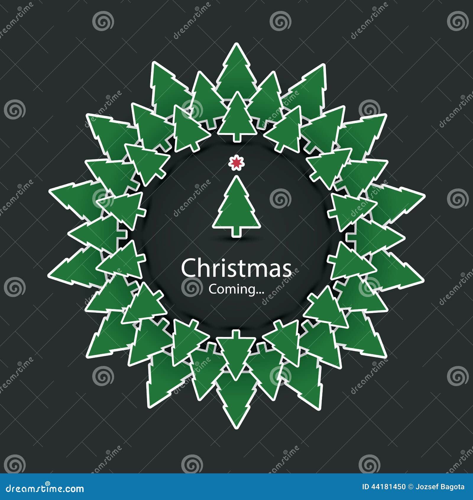 Weihnachten kommt weihnachtskarten design stockfoto - Designer weihnachtskarten ...