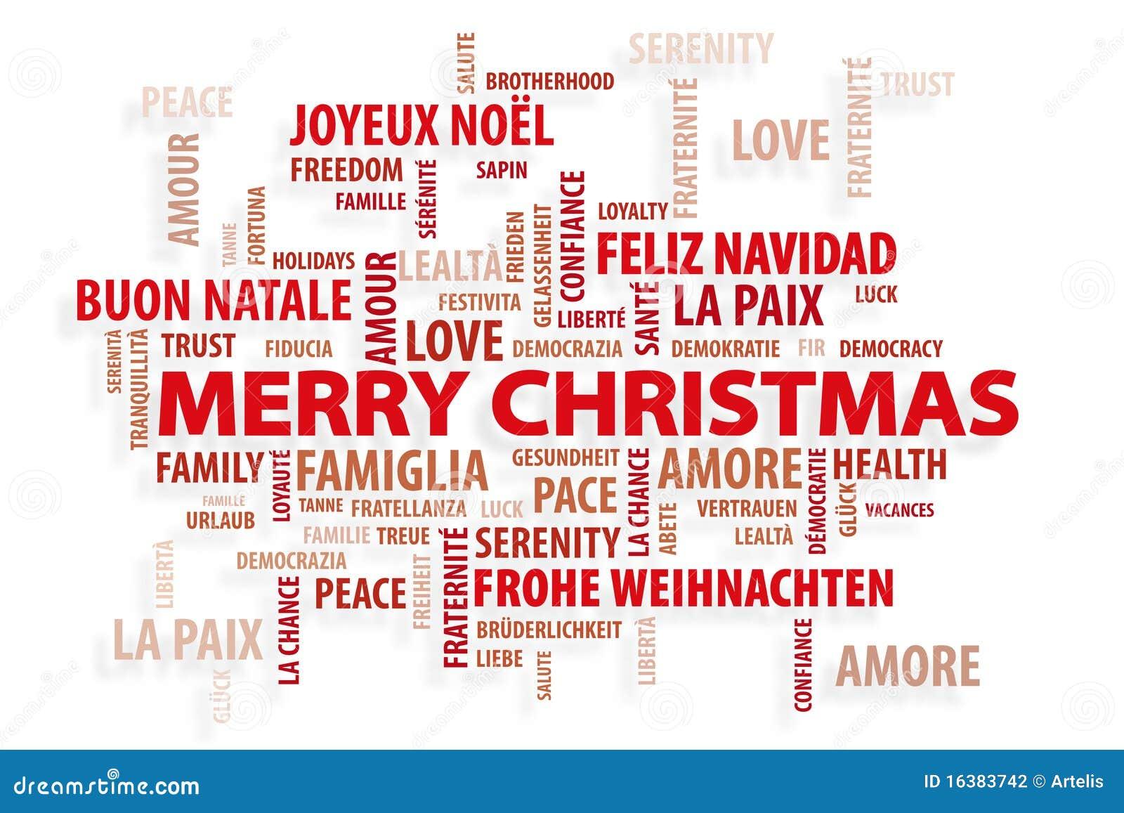 Weihnachten. Magische Wörter Stock Abbildung - Illustration von ...
