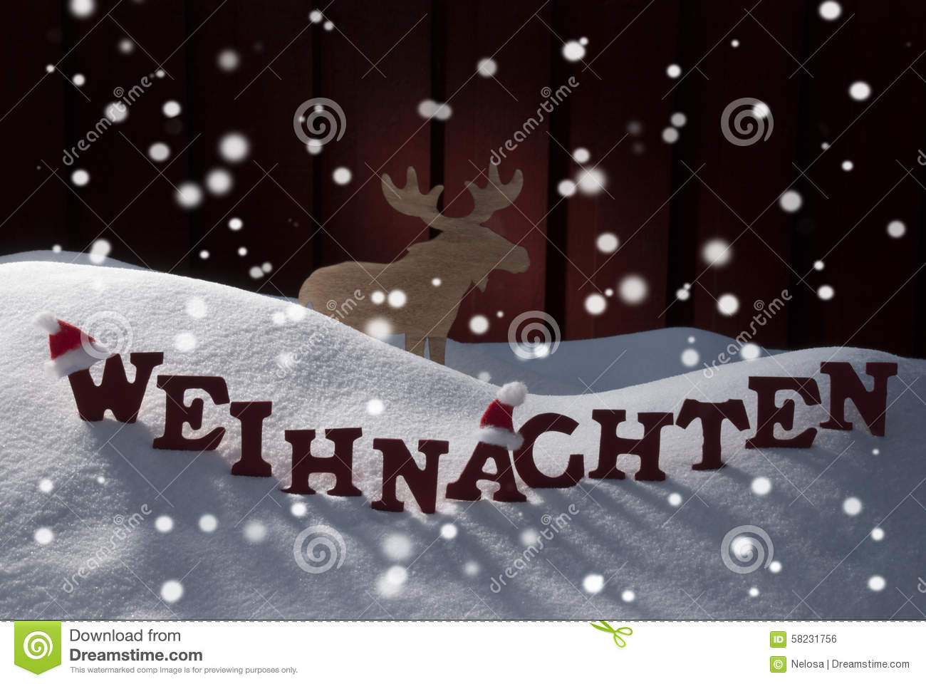 Weihnachten means christmas snowflakes mosse stock photo image royalty free stock photo kristyandbryce Images