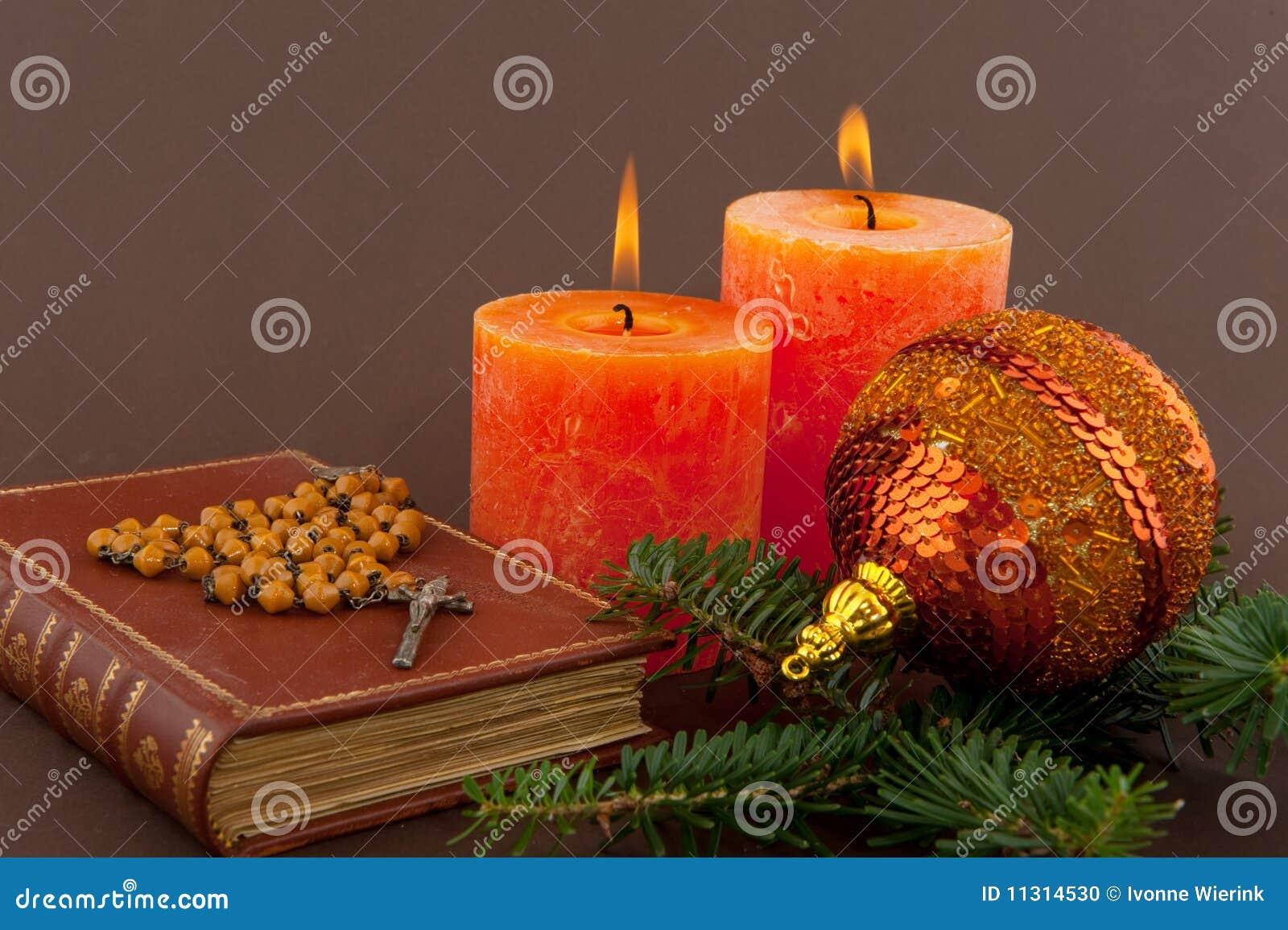 Weihnachten mit Bibel stockfoto. Bild von silber, hintergrund - 11314530