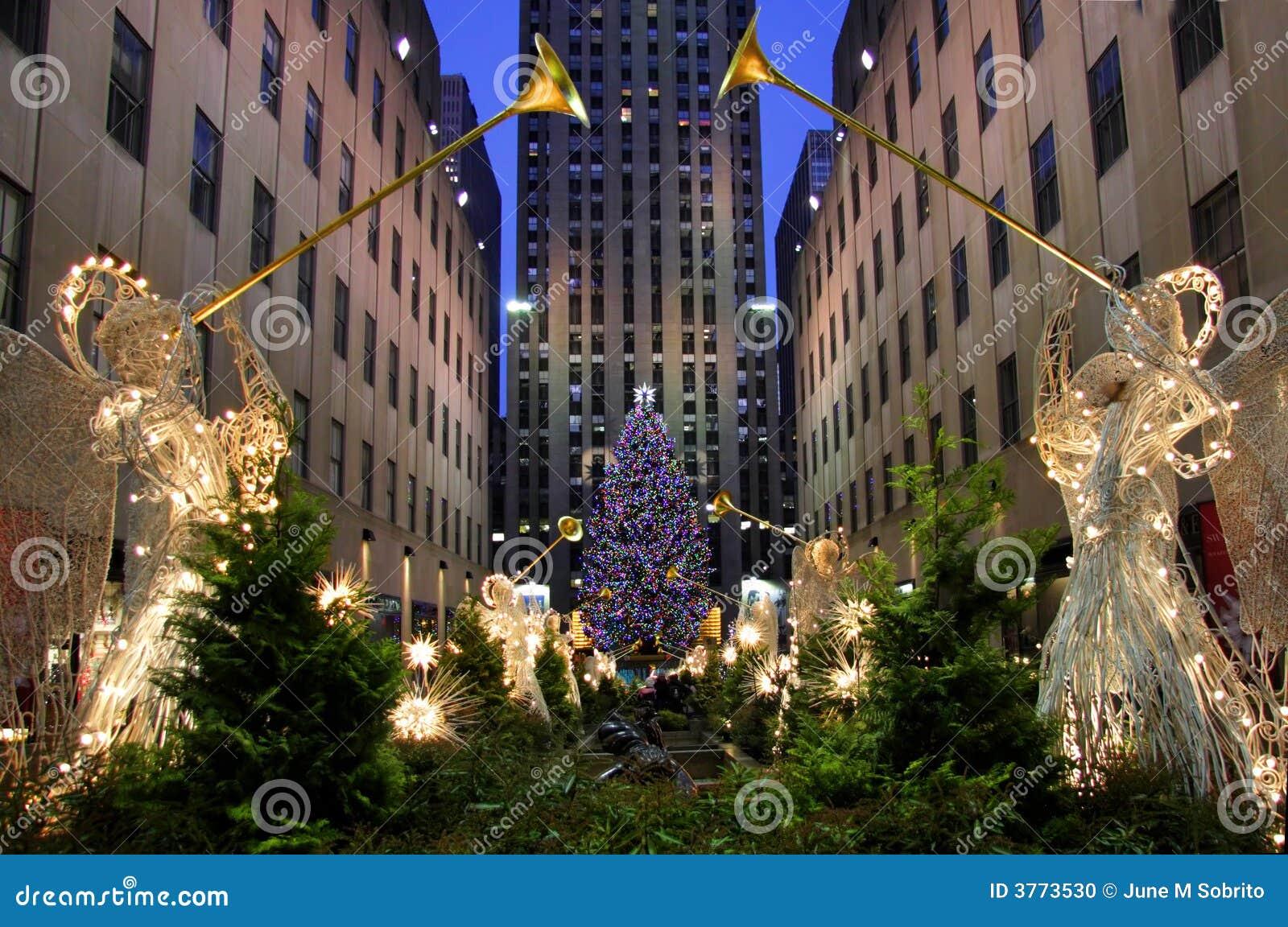 weihnachten in new york redaktionelles bild bild von leuchten 3773530. Black Bedroom Furniture Sets. Home Design Ideas