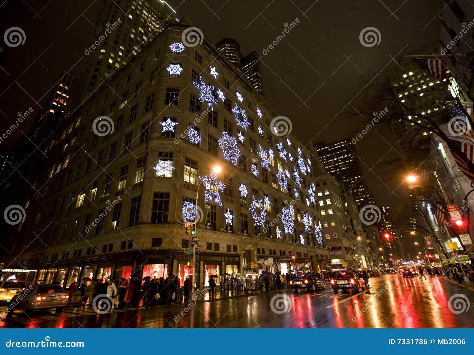 weihnachten in new york redaktionelles foto bild von ansicht 7331786. Black Bedroom Furniture Sets. Home Design Ideas