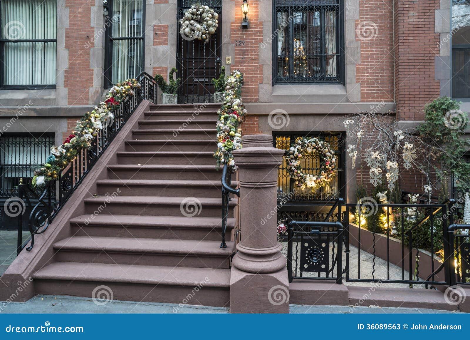 weihnachten new york city stockbild bild von gro treppen 36089563. Black Bedroom Furniture Sets. Home Design Ideas