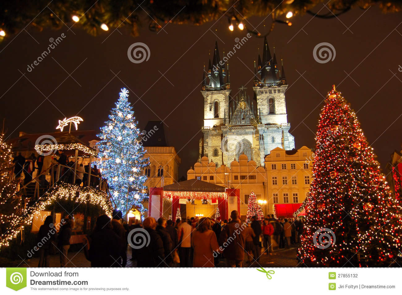 weihnachten in prag stockfotografie bild 27855132. Black Bedroom Furniture Sets. Home Design Ideas