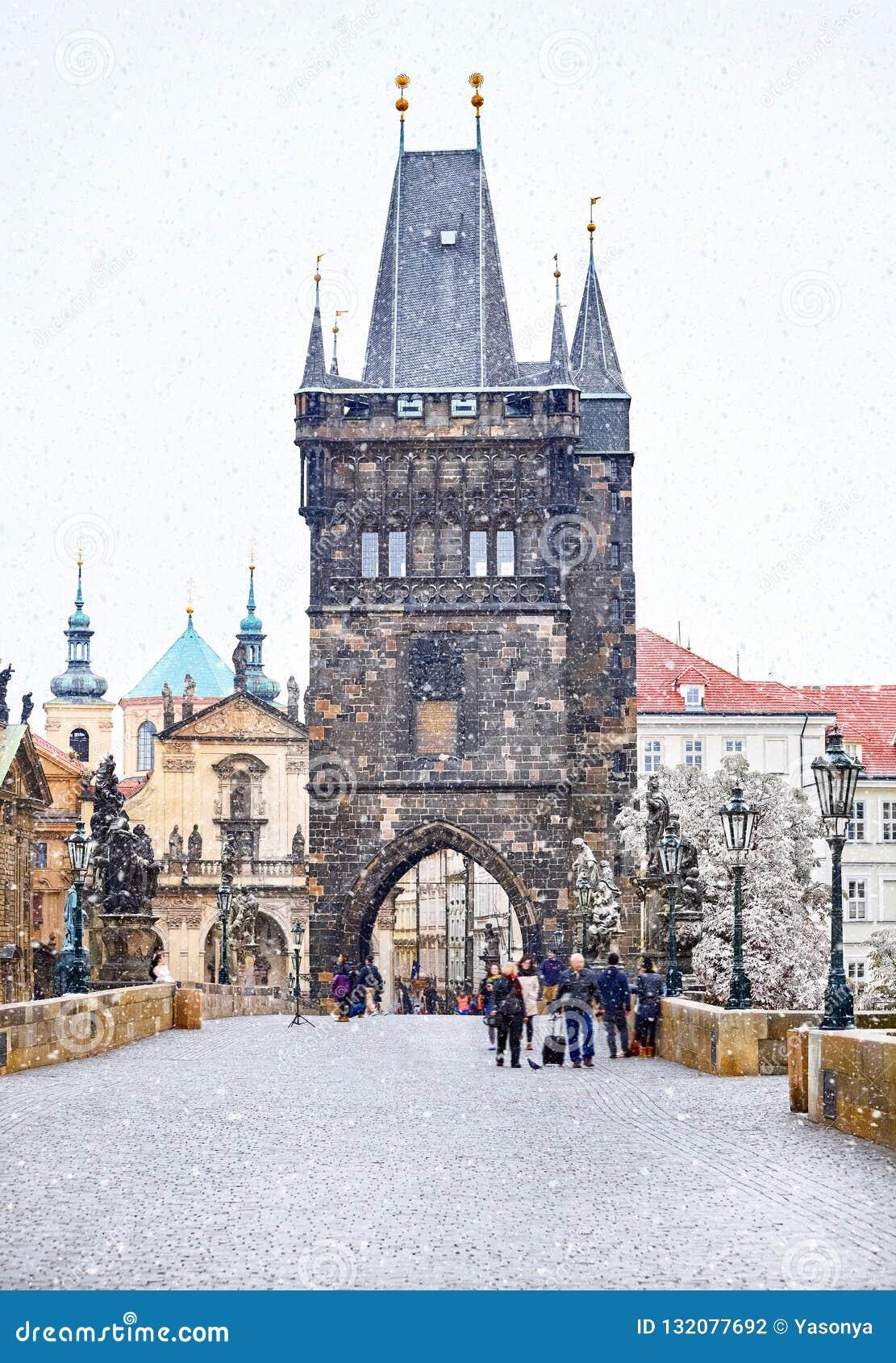 Weihnachten in Prag, Charles Bridge-Turm
