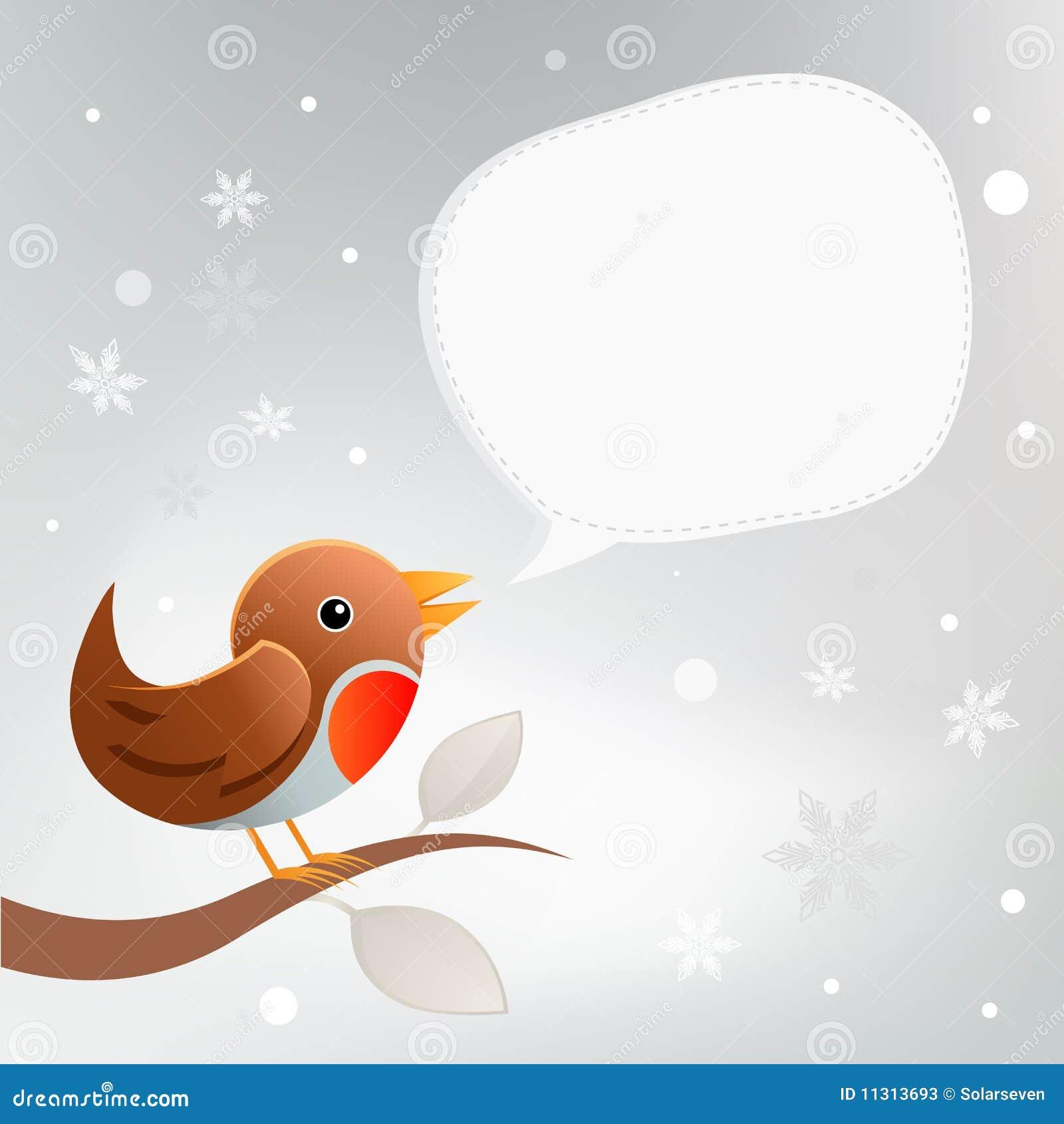Weihnachten Robin Twittering