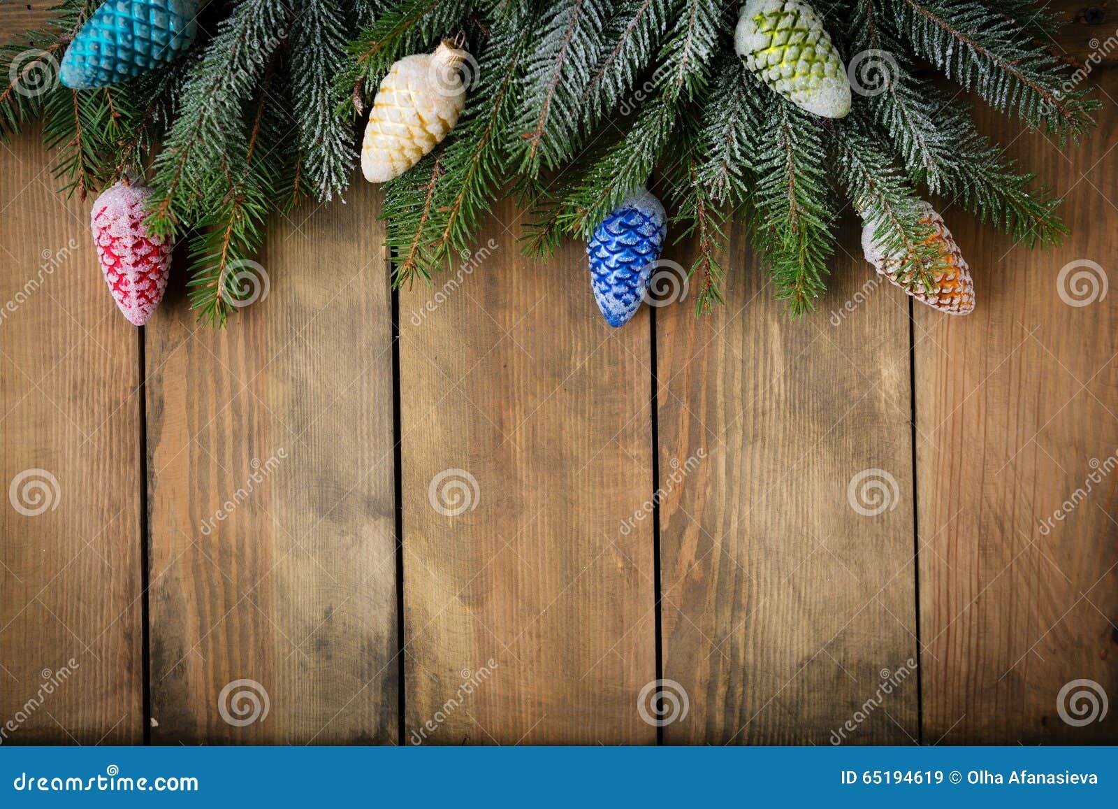 Weihnachten Rustikal Mit Dekorationshintergrund Stockbild - Bild von ...