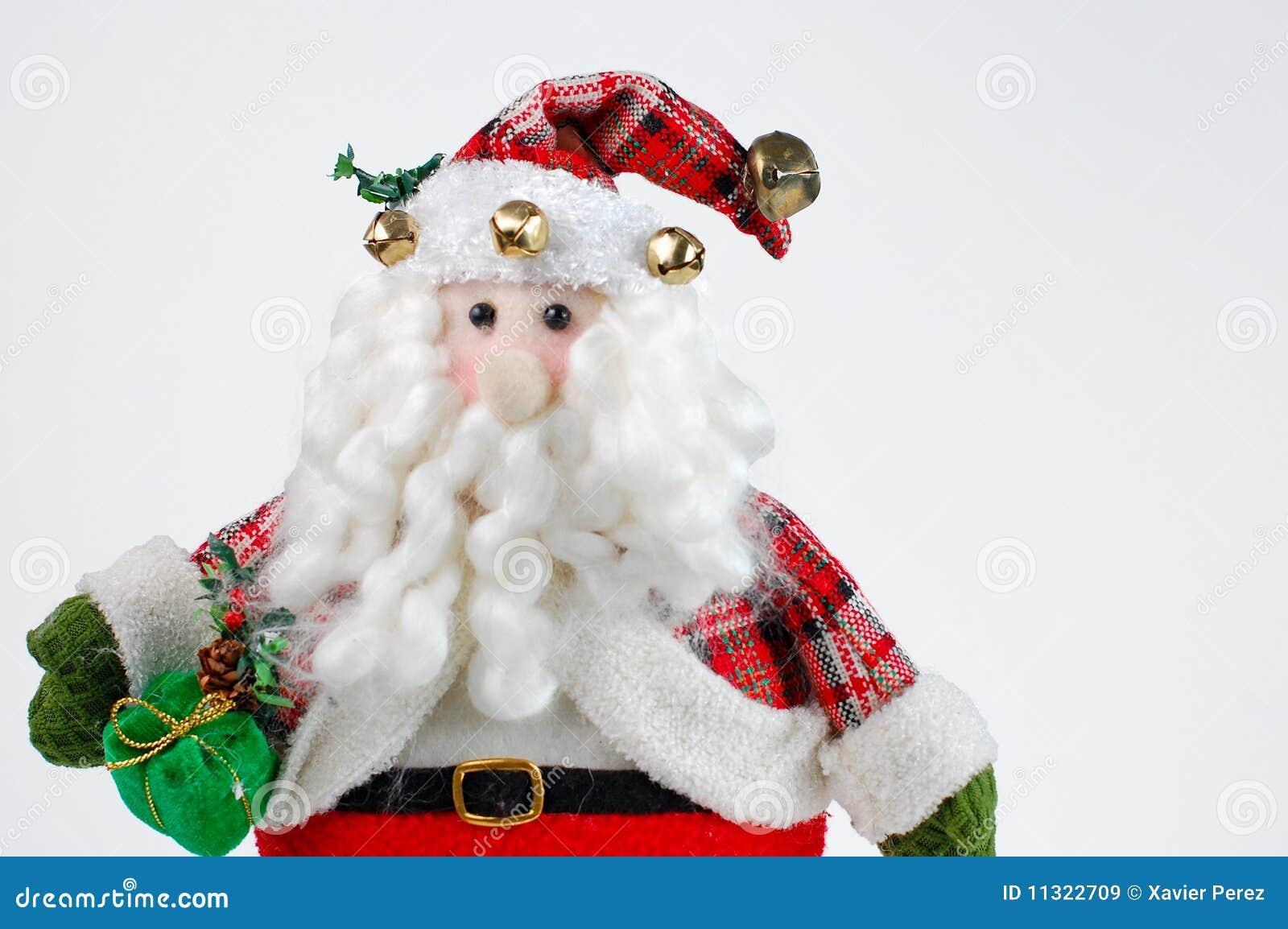 Weihnachten Sankt auf weißem Hintergrund