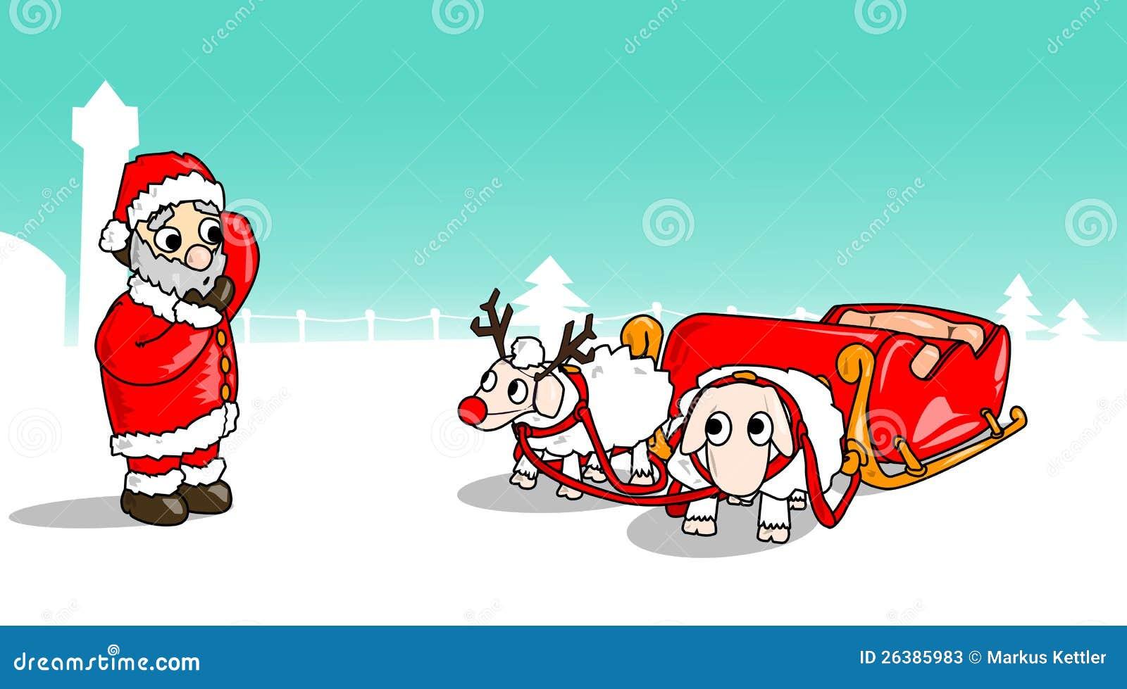 Weihnachten-Schaf-Schlitten Stock Abbildung - Illustration von ...