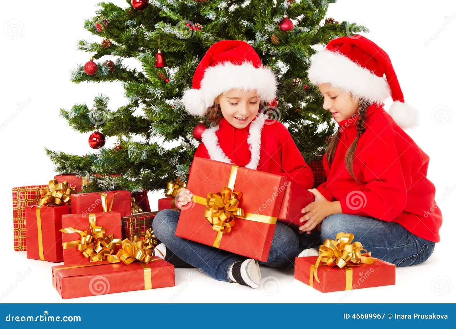 Weihnachten Scherzt In Sankt-Hut, Tannenbaum, Kinderoffene Anwesende ...