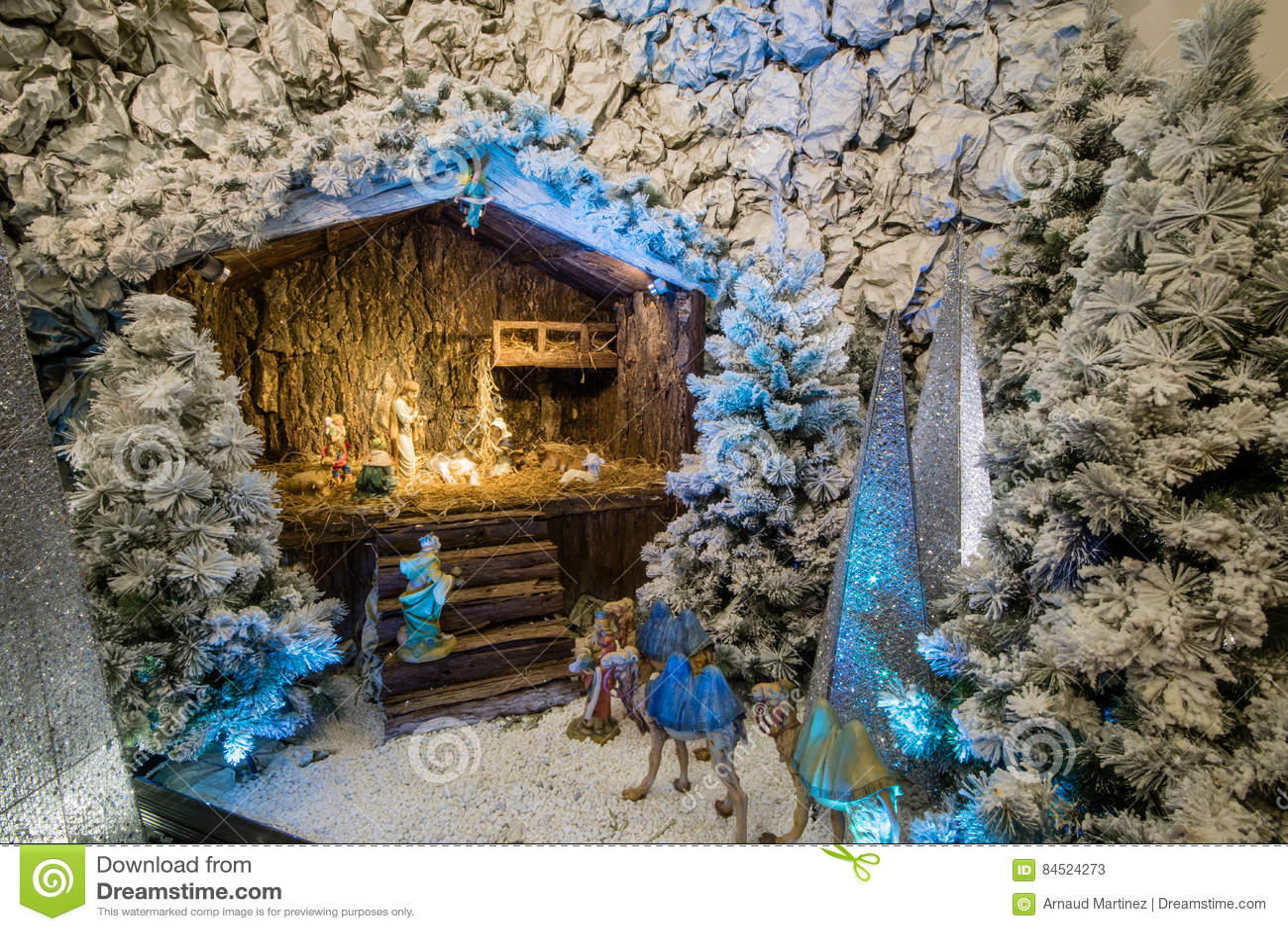 Weihnachten Stabil Und Es Jesus Stockbild - Bild von haus, jesus ...