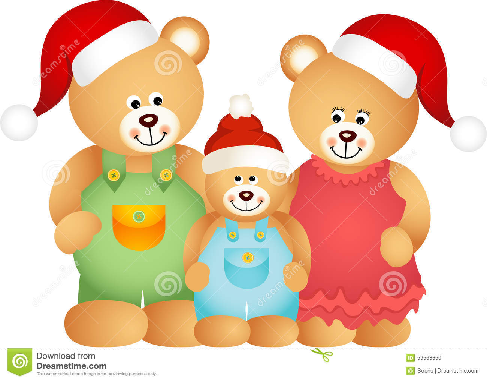 Weihnachten Teddy Bear Family