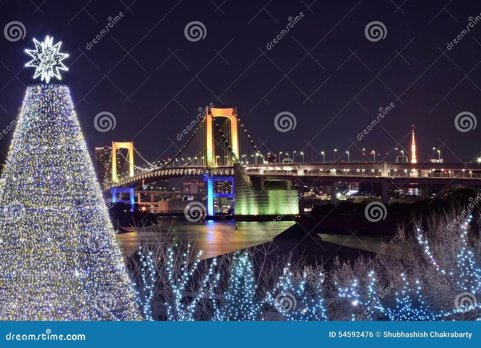 weihnachten in tokyo stockfoto bild von reise brücke