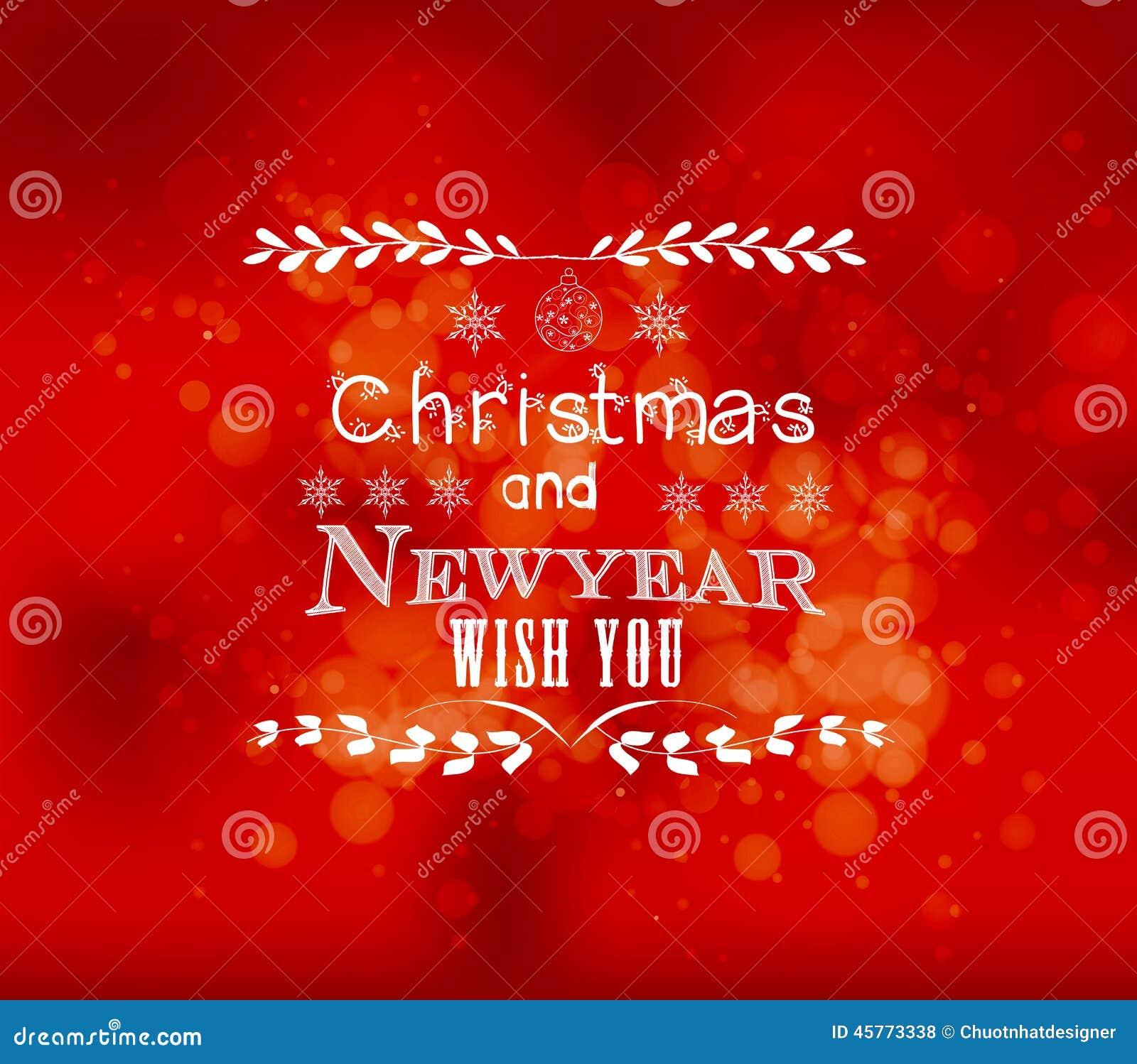 Weihnachten Und Neues Jahr Wünschen Ihnen Hellen Vektorhintergrund ...