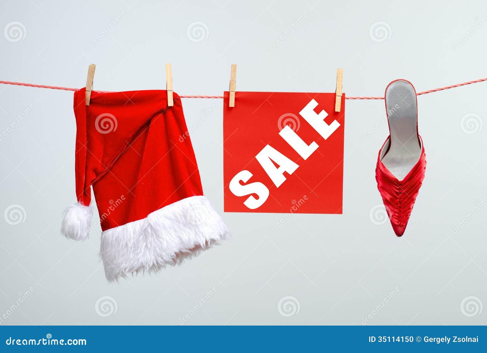 Weihnachten-VERKAUF stock abbildung. Illustration von hängen - 35114150