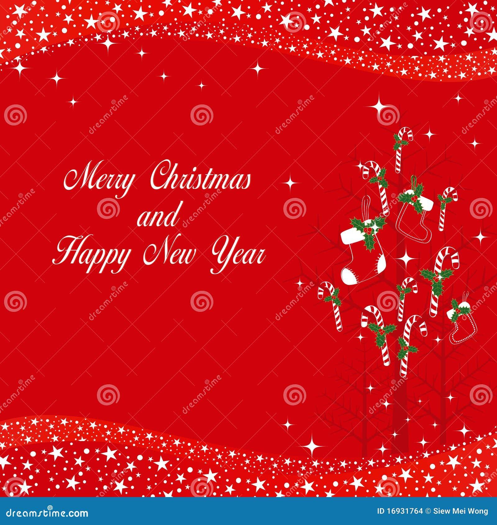 Weihnachten Verziert Grußkarte Vektor Abbildung - Illustration von ...