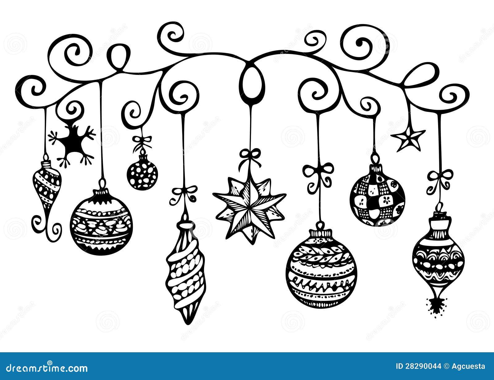 Weihnachten Verziert Skizze Stock Abbildung - Illustration von ...