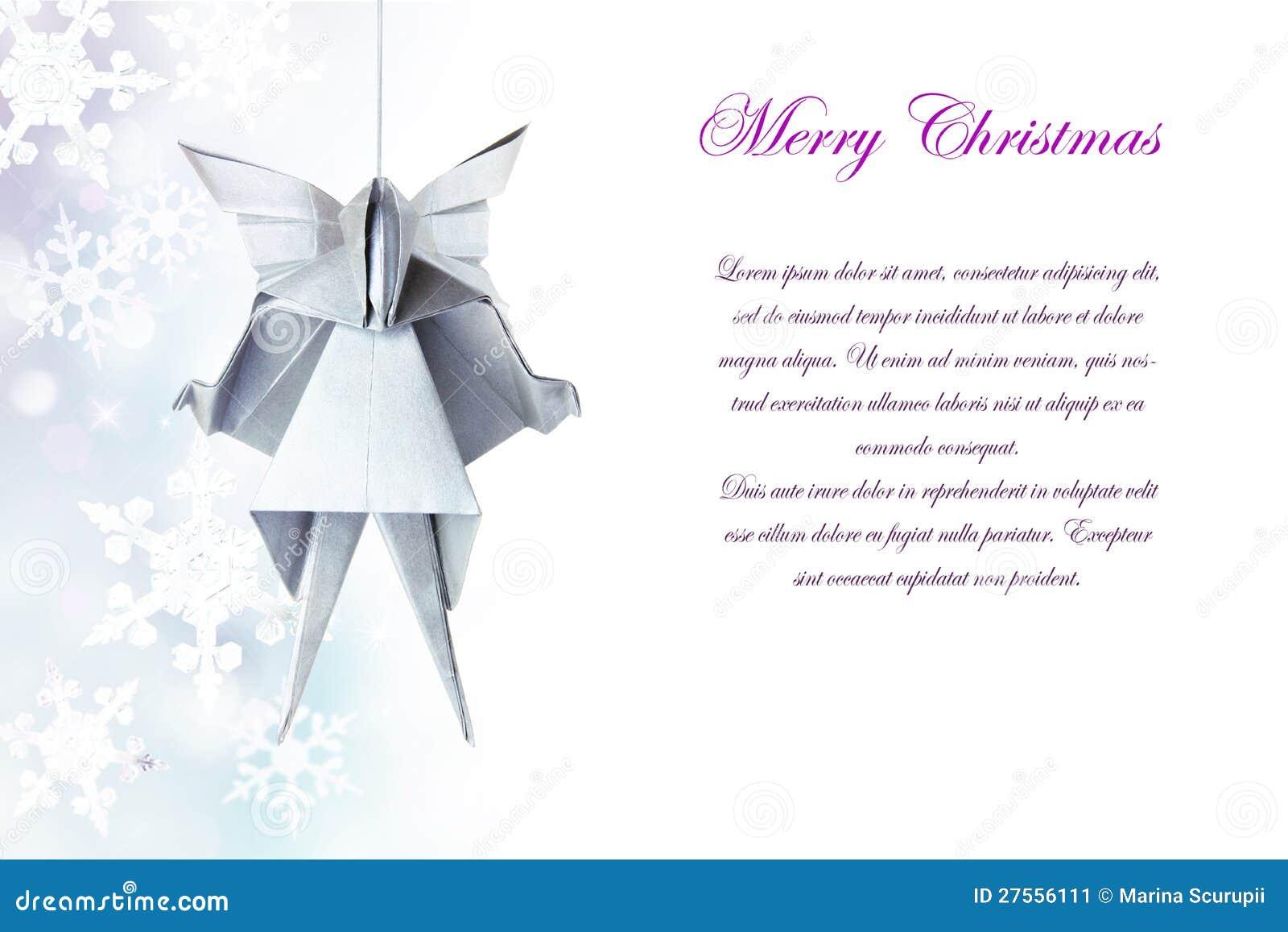 weihnachtensilberner origami engel stockbild bild 27556111. Black Bedroom Furniture Sets. Home Design Ideas