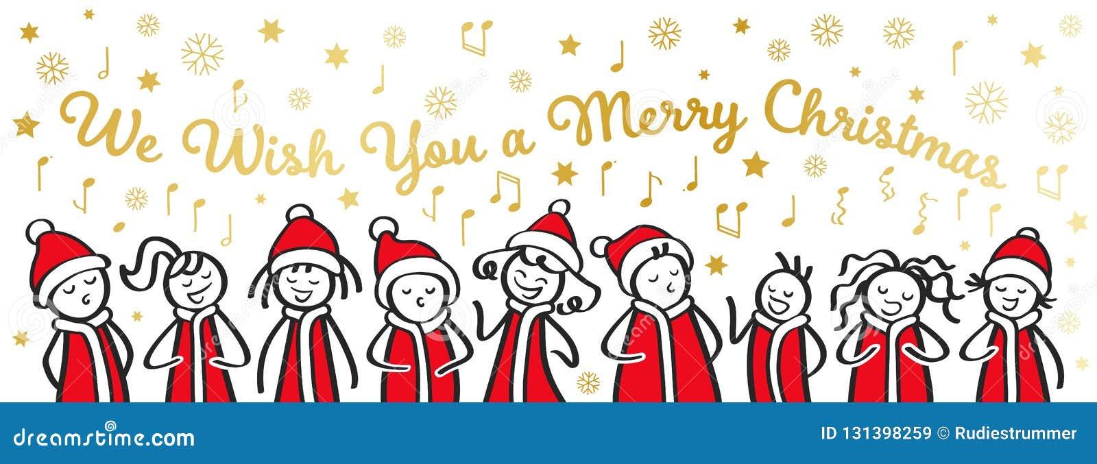 Lustige Weihnachten Bilder.Weihnachts Carol Sänger Chor Lustige Männer Und Frauen Wünschen