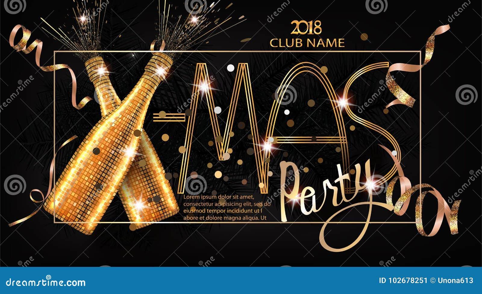 Weihnachts-Partei-Einladungskarte mit Weihnachten-deco wendet ein