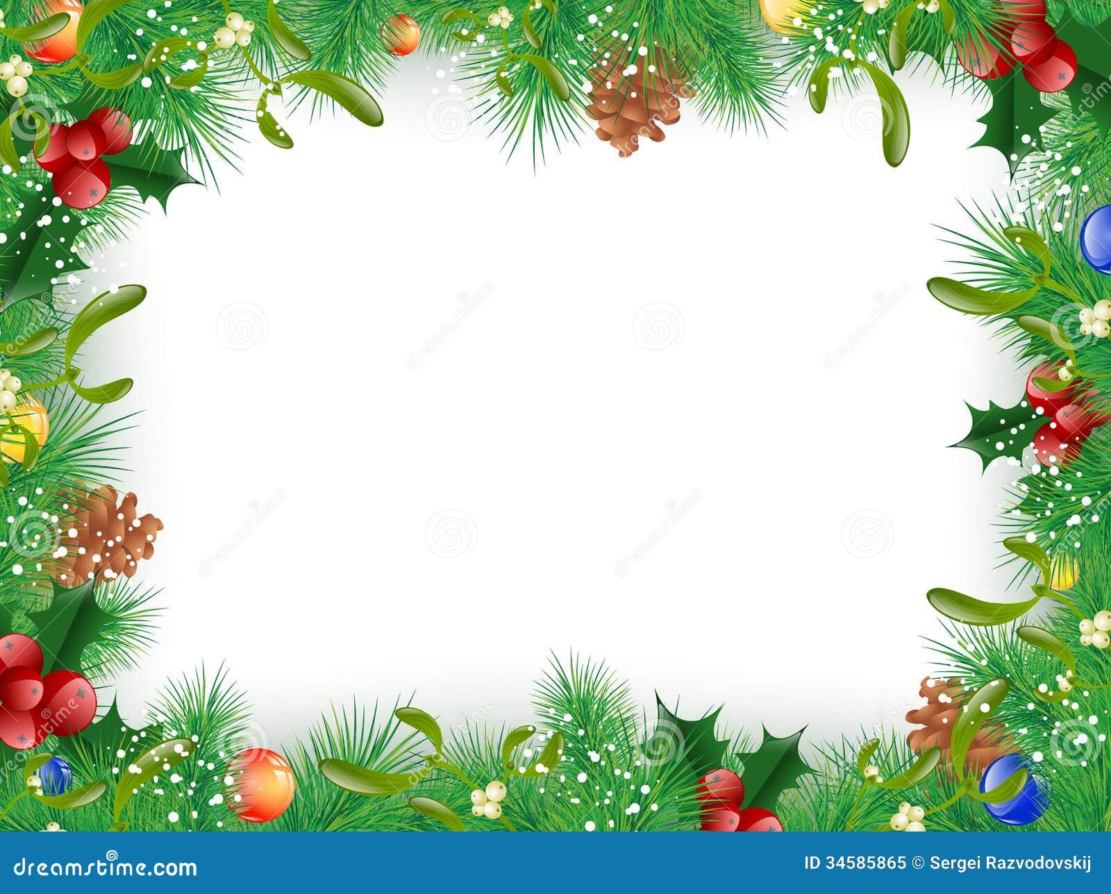 weihnachts und neues jahr rahmen vektor abbildung bild. Black Bedroom Furniture Sets. Home Design Ideas